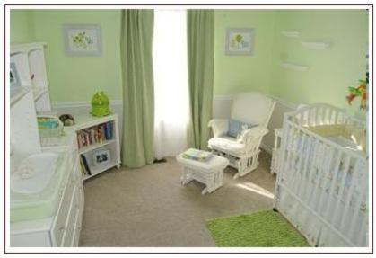 Green Baby Nursery Decorating