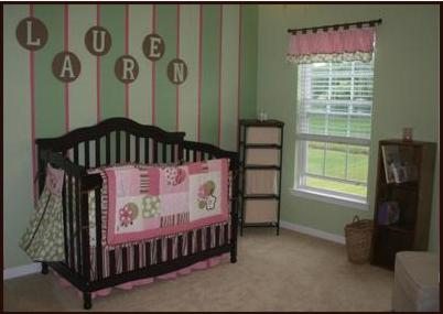 Baby Nursery  Ideas on How To Paint Stripes And Checks In Your Baby Nursery