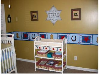 Baby Room Decoration Ideas for a Cowboy or Cowgirl Western Theme