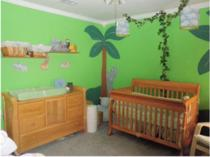 jungle theme nursery picture