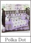 polka dot crib bedding