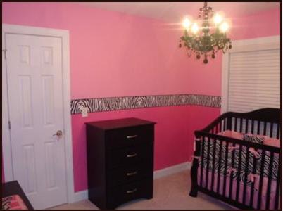 This bright pink baby nursery was sent to us by Amanda (South Carolina