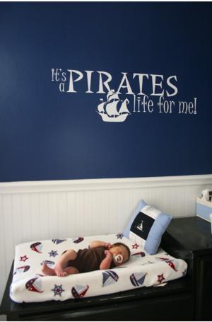 Nautical Pirate Nursery Idea