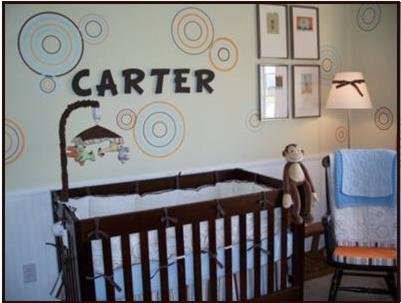 Nursery Design Ideas on Nursery Design Ideas With Polka Dots And Circles
