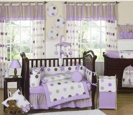 polka dot nursery bedding set