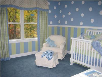 Bedroom Wall Borders on Baby Nursery Wall Borders Gallery