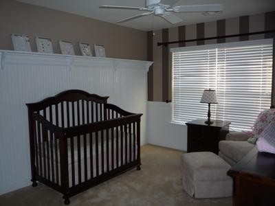 Baby  Rooms Pictures on Grace Ann S Brown Stripes Nursery
