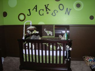 Green and Brown Elephant Baby Nursery