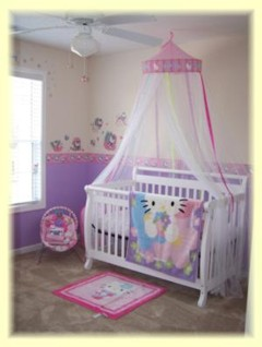 Baby Girl Room Decorating Ideas on Hello Kitty Nursery Idea