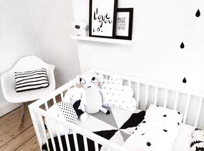 Cot and pictures frames