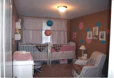 pink and blue twin nursery idea Well, here are some pics of our pink and blue twin nursery idea
