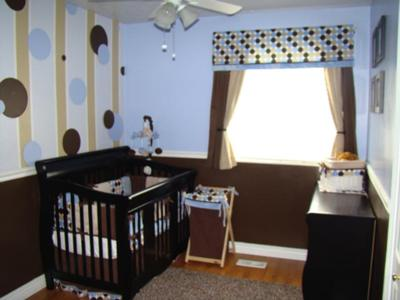 had so much fun creating this stripes and polka dots nursery for our