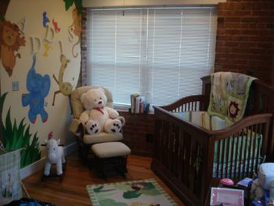 Oklahoma Nursery's http://www.creative-baby-nursery-rooms.com/zoo-animal-nursery.html